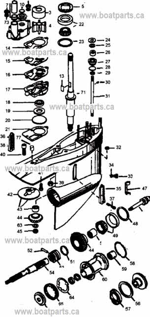 Mercruiser Alpha 1 lower unit parts drawing