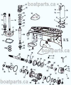 OMC Cobra lower gearcase parts layout